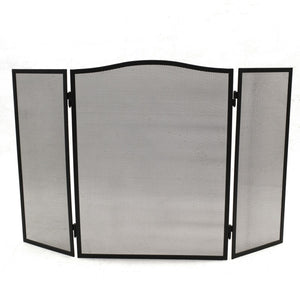 Á La Maison FIRE14 Folding Fire Screen Matt Black 59cm x 97cm