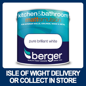 Berger Kitchen and Bathroom Matt Emulsion 2.5ltr - White