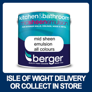 Berger Kitchen and Bathroom Midsheen 2.5ltr - Various Colours
