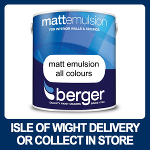 Berger Matt Emulsion 2.5 Litres - Various Colours