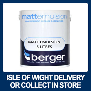 Berger Matt Emulsion 5 Litres - Various Colours