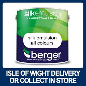 Berger Silk Emulsion 2.5 Litres - Various Colours