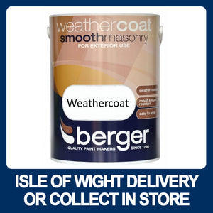 Berger Weathercoat Smooth Masonry Paint 5ltr - Various Colours