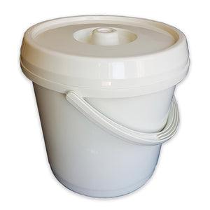 14Ltr Cream Bucket With Lid & Handle (Nappy Bin)