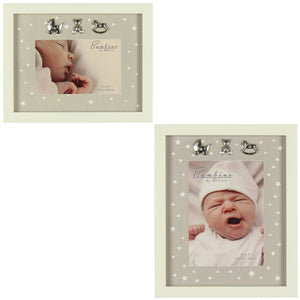 Bambino MDF Photo Frame Star Pattern - Various Sizes