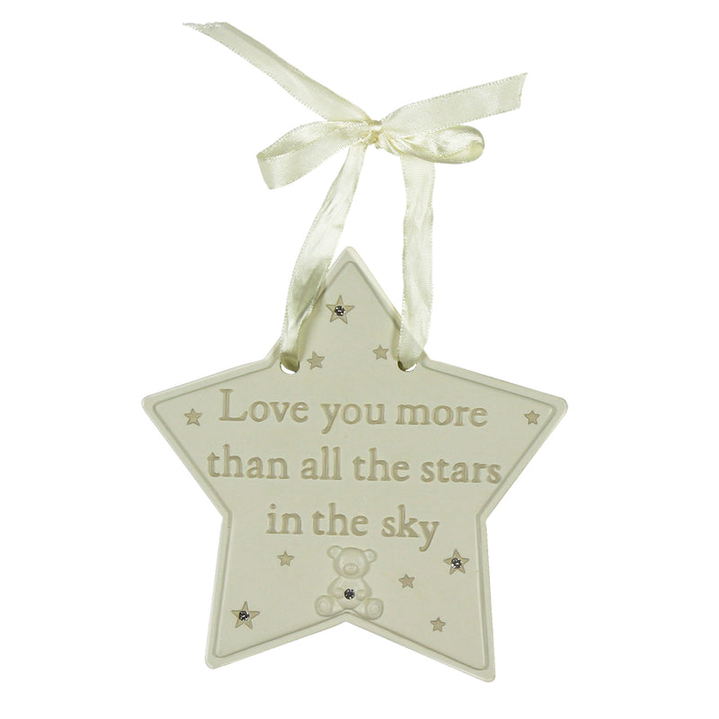 Bambino CG1122 Love You More Resin Star Plaque