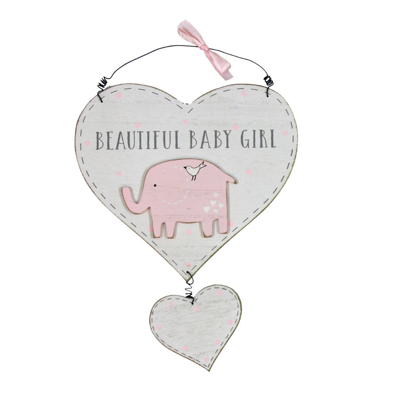 Petit Cheri for Baby CG1307P Baby Girl Heart Plaque