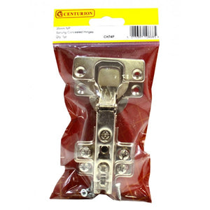 Centurion CH74P Pair of Sprung Concealed Hinges - ZP 90deg 35mm