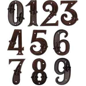 Esschert Design DB62 Cast Iron House Number  - Various Numbers