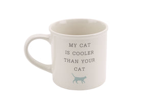 CGB DES934 My Cat Is Cooler Stoneware Mug