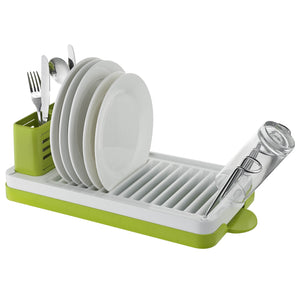 Sakura DRK012 Single Tier Drainer White & Green
