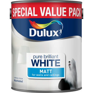 Dulux Matt Emulsion 3 Litre - Pure Brilliant White