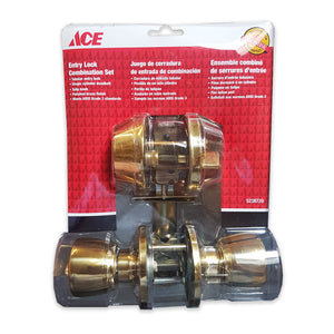 Ace Entry Lock Combination Set - Polished Brass