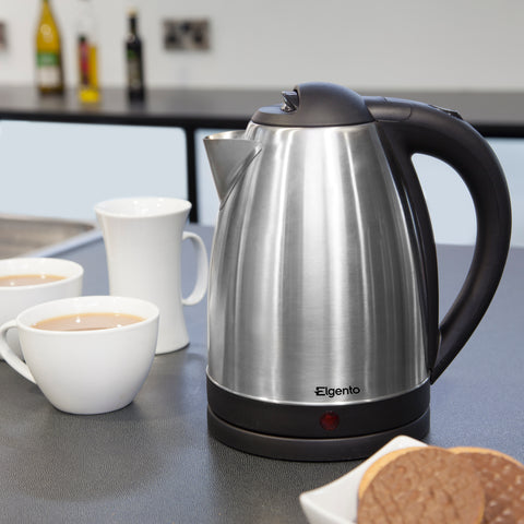 Elgento E10015B 1.8ltr Jug Kettle Brushed Steel