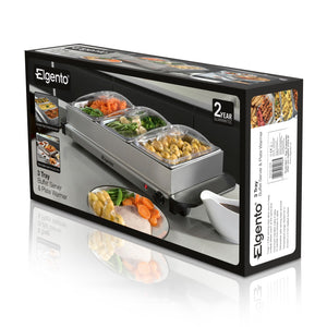 Elgento E322 Three Tray Buffet Server