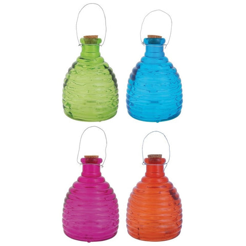 Esschert Design EG06 Glass Beehive Wasp Trap - Various Colours