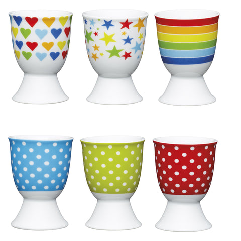Kitchencraft Porcelian Egg Cups - Various Designs