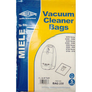 Electruepart BAG230 Miele 3 Layer Synthetic Vacuum Bags - Pack of 5