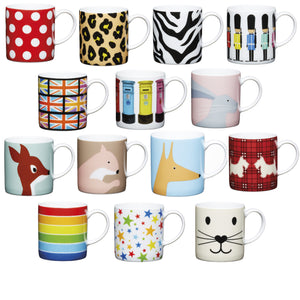 Kitchencraft Espresso Mugs 80ml - Various Designs