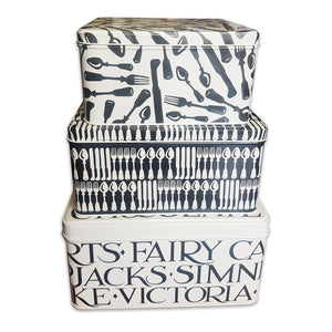 Emma Bridgewater Set of 3 Cake Tins - Knives & Fork