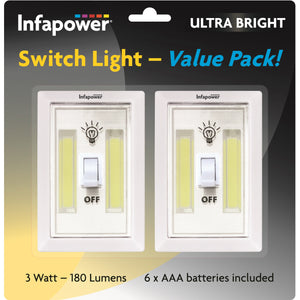 Infapower F043 Switch COB LED 3w Light - Pack of 2