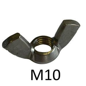 Holt Marine Wing Stainless Steel Metric Nuts Pkt2 - Various Sizes