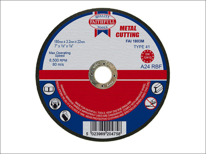 Faithfull Cut Off Discs - Metal