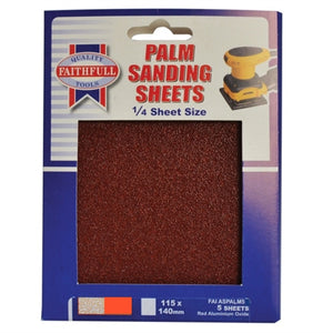 Faithfull 1/4 Sheet Palm Sander Sheets Pkt5 - Various Grits