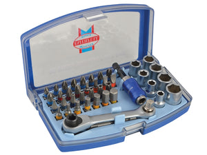 Faithfull FAISBSET42 Screwdriver Bit & Socket Set 42 Piece