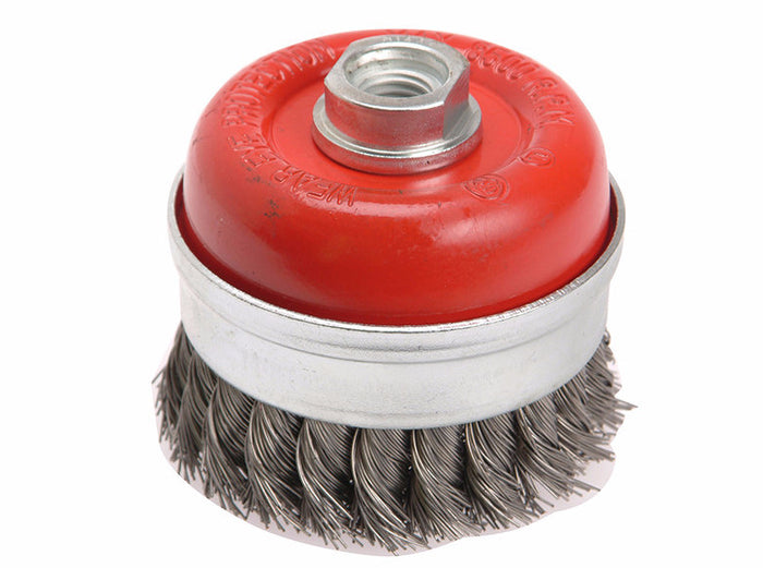 Faithfull FAIWBT65 Wire Cup Brush Twist Knot 65mm x M14 x 2 0.50mm