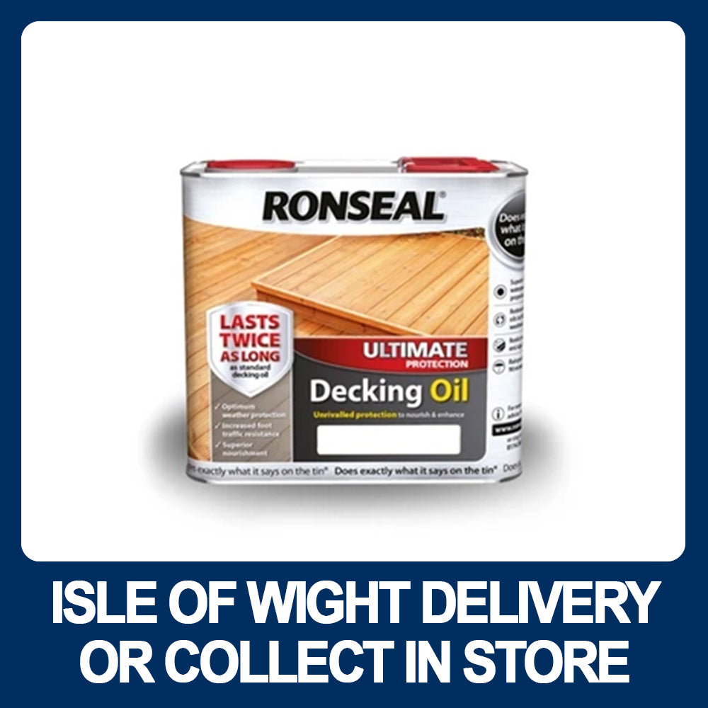 Ronseal Ultimate Protection Decking Oil 5litre Various Colours W Hurst Son Iw Ltd