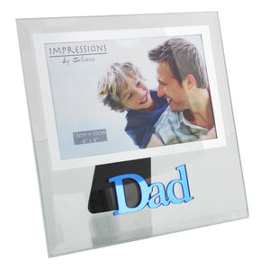 "Impressions FG572D Dad Glass Photo Frame 6"" x 4"""