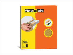 Flexovit Glasspaper Sanding Sheets 230 x 280mm - Assorted Pkt 25