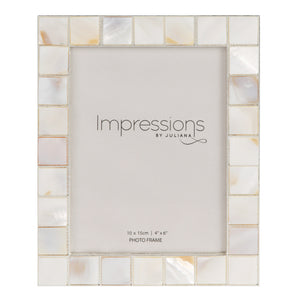 Impressions Metal / Shell Mosaic Photo Frames - Various Sizes