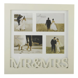 Amore FW729H MDF Collage Mr & Mrs Wooden Frame