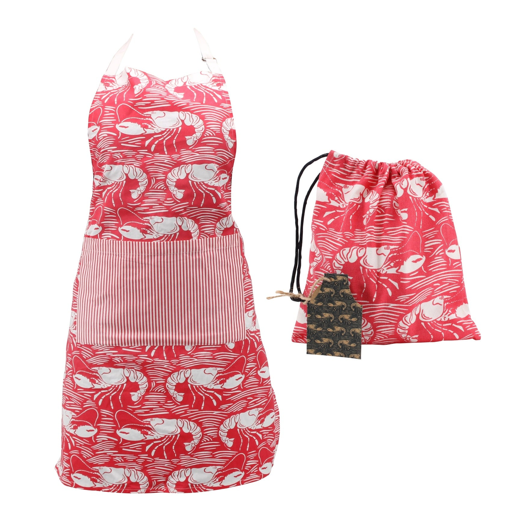 CGB GB00125 Harbour Cotton Apron - Red Lobster