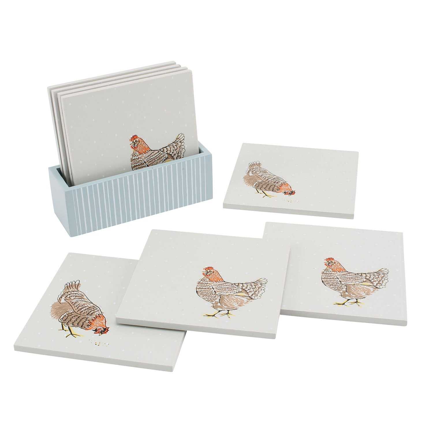 CGB GB00535 Holly House Chicken Coasters