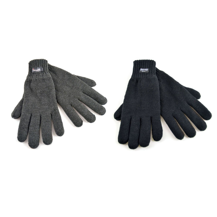 Thinsulate 3M Insulation Mens Gloves - Black or Grey