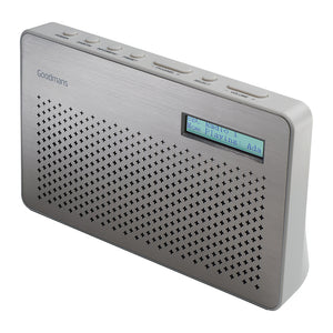 Goodmans CANVASSTE Canvas Portable DAB/FM Radio - Steel