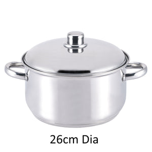 Culinary Pro HSP002 Stockpot & Lid 26cm Stainless Steel