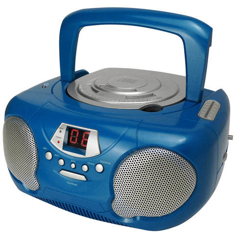 Groove GV-PS713-BE Boombox CD Player & Radio Blue