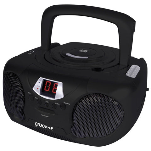 Groove GV-PS713-BK Boombox CD Player & Radio Black