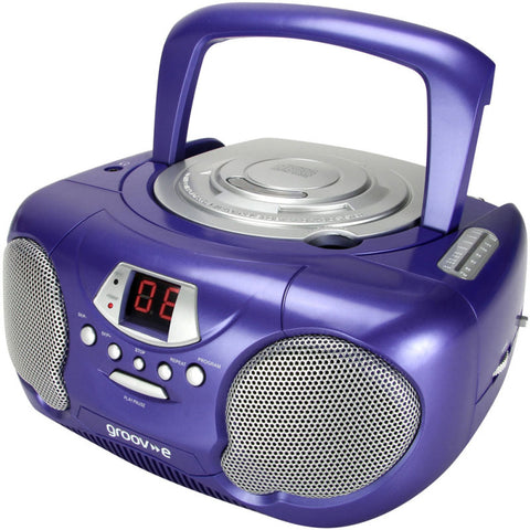 Groove GV-PS713-PE Boombox CD Player & Radio Purple