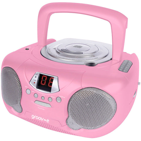 Groove GV-PS713-PK Boombox CD Player & Radio Pink