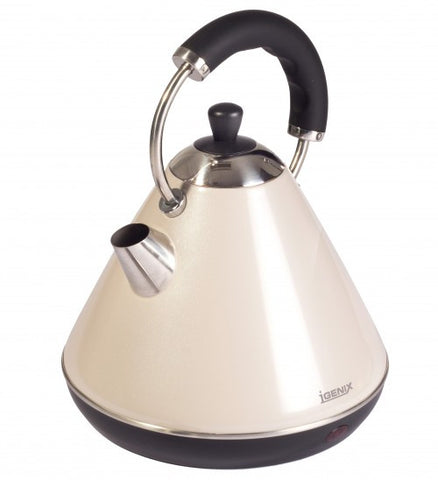 Igenix IG740CR Pyramid Kettle Cream 1.8Ltr 3kW