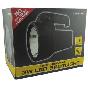 Uni-Com 62998 Rechargeable Spotlight 3w LED