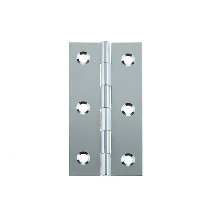 Frelan Chrome Plated Solid Drawn Brass Butt Hinge - Various Sizes - Sold in Pairs
