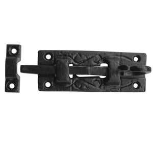 Frelan JAB25Z Straight Door Bolt 100mm - Antique Black Finish