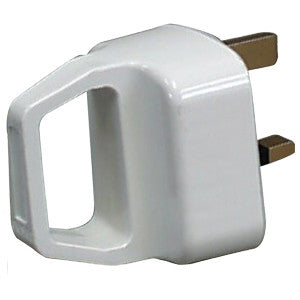 Supergrip JF010 13 Amp Plug White with Handle
