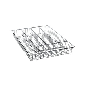 Kitchencraft kccutlery 5 section chrome plated cutlery tray